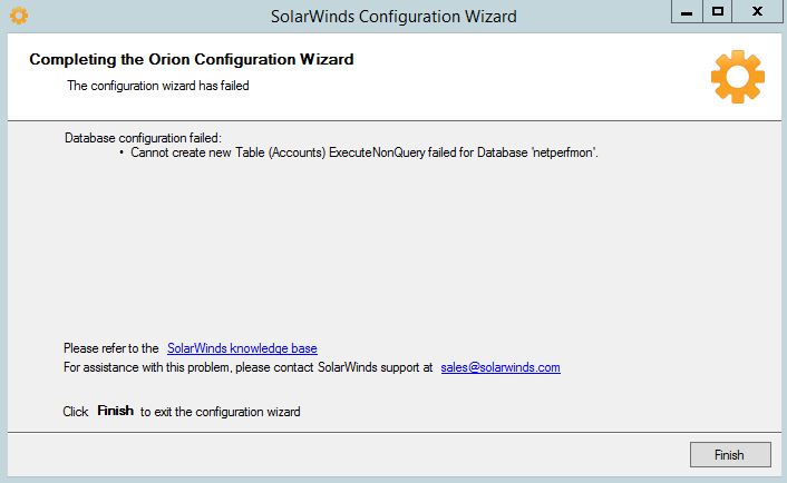 executenonquery failed for database msdb