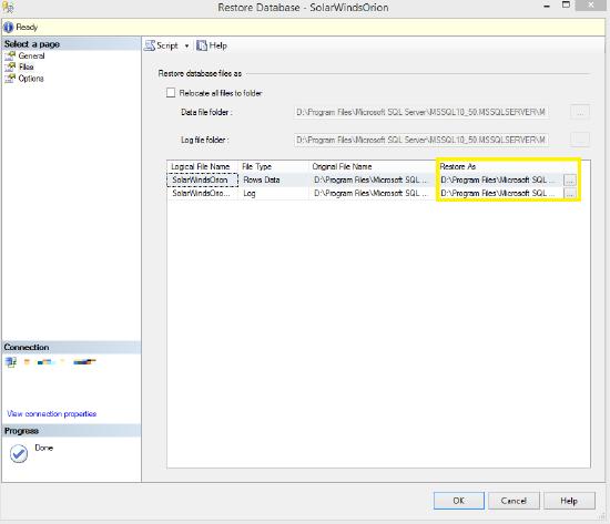 Back up and restore SQL database instance using a  BAK file