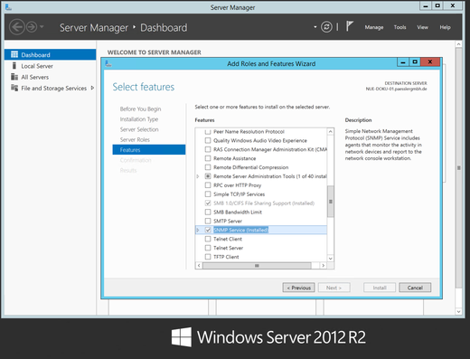 Install or configure SNMP for Windows