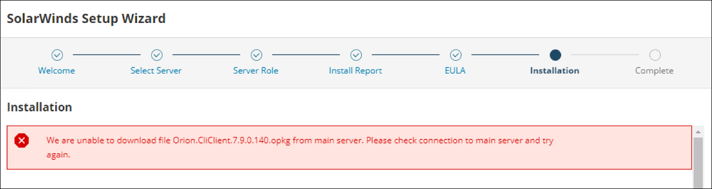 Upgrading an Additional Polling Engine generates an error