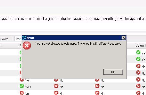 Error when logging into Network Atlas Map on
