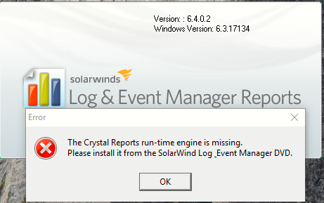 SEM Reports Console does not install correctly