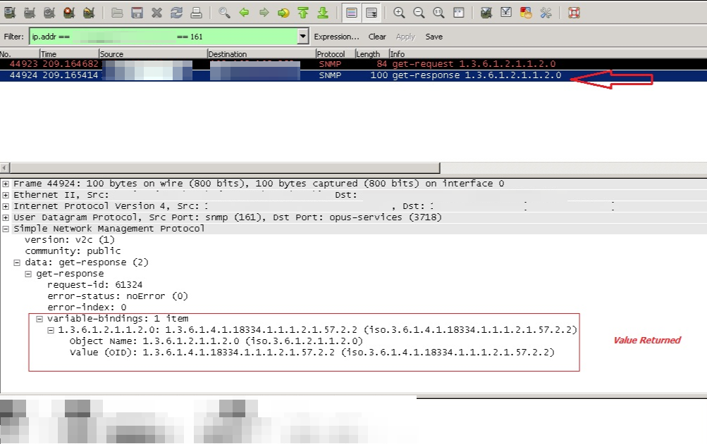 Troubleshoot an SNMP Node/SNMP Test Failed result in Orion