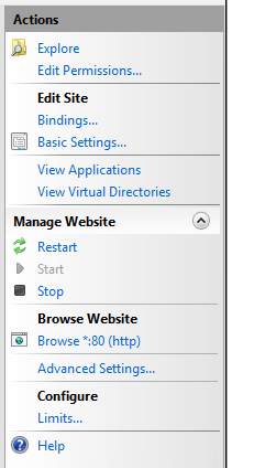 Manage website bindings in IIS Manager