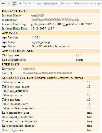 ServiceNow integration failing with error