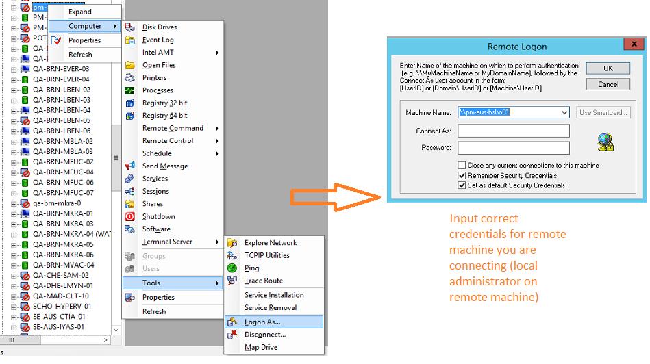 DameWare Remote Support unavailable icon