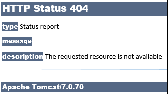 Apache Tomcat version number displays in error messages