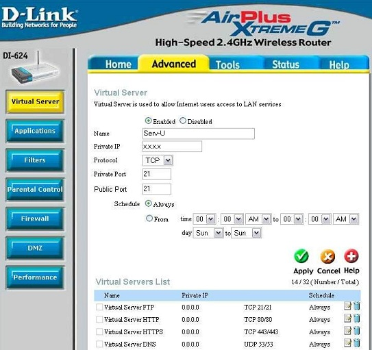Configure port forwarding through a D-Link Router