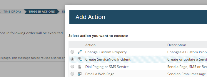 SolarWinds Orion 2016 1 feature: ServiceNow integration