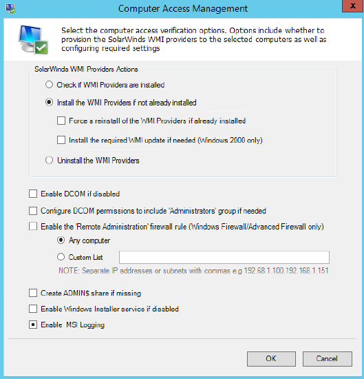 How to provision and install WMI Providers in Patch Manager